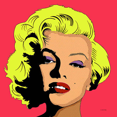 Digital Art - Marilyn-5 by Marlene Watson