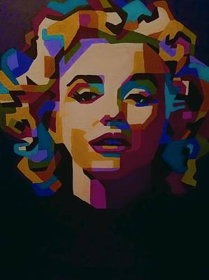 Marilyn Abstraction Original by Amber McNeel
