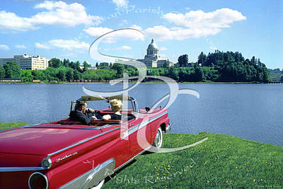 Photograph - Marilyn And Arthur At Capitol Lake by Merle Junk