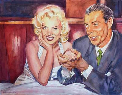 Marilyn And Joe 1952  Art Print by David Lloyd Glover