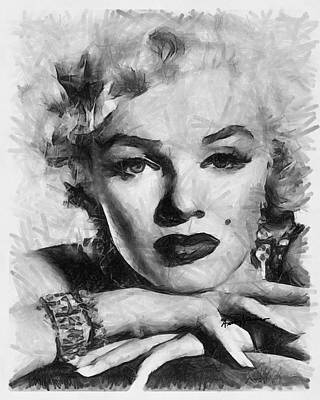 Marilyn Print by Anthony Caruso