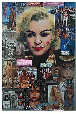 Life Is What Mixed Media - Marilyn Beach 1962 by Francesco Martin