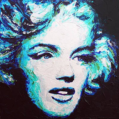 Painting - Marilyn Blue by Havi