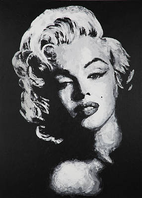 Painting - Marilyn Bw by Havi