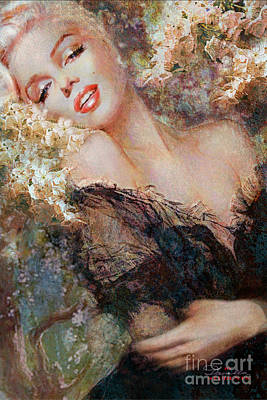 Marilyn Monroe Painting - Marilyn Cherry Blossom by Theo Danella