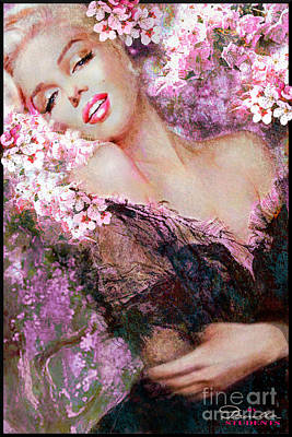 Painting - Marilyn Cherry Blossoms Pink by Theo Danella