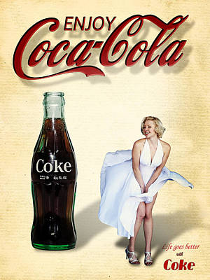 Art Print featuring the photograph Marilyn Coca Cola Girl 3 by James Sage
