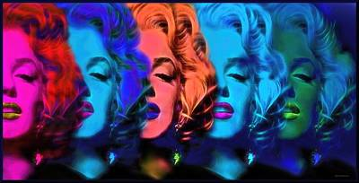 Marilyn Photograph - Marilyn Color Dreams by Daniel  Arrhakis