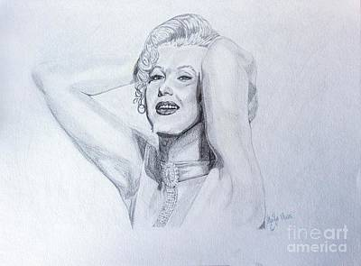 Pencils Drawing - Marilyn by Crystal Wacoche