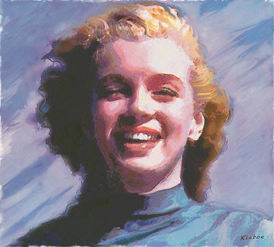 Digital Art - Marilyn by David Klaboe
