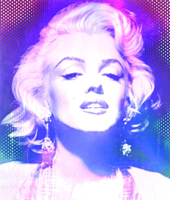 Digital Art - Marilyn Disco Retro by Kim Gauge
