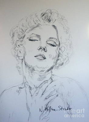 Superstar Drawing - Marilyn, Feelings by N Willson-Strader