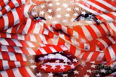 Marilyn Flag Art Print