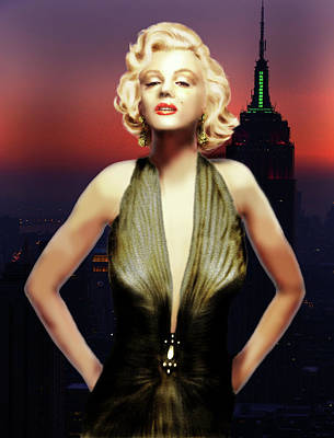 Digital Art - Marilyn Forever by Virginia Palomeque