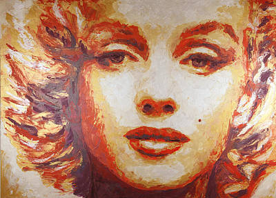 Painting - Marilyn Gold by Havi