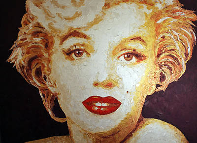 Painting - Marilyn Gold II by Havi