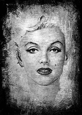 Painting - Marilyn Graphite Edit by Andrew Read