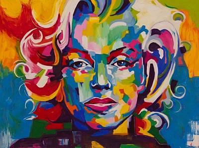 Gustavo Oliveira Painting - Marilyn by Gustavo Oliveira