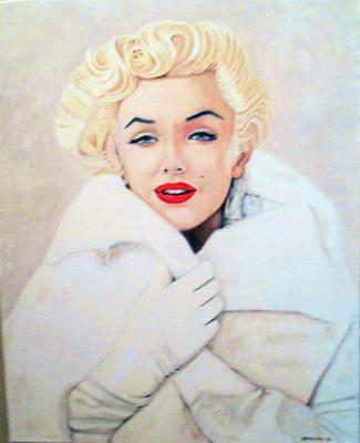 Marilyn In Fur Original by Jeffrey Phillips