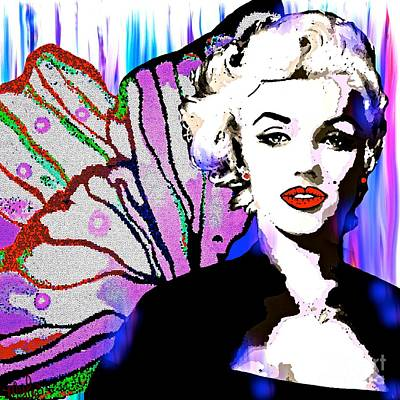 Painting - Marilyn In Love by Saundra Myles