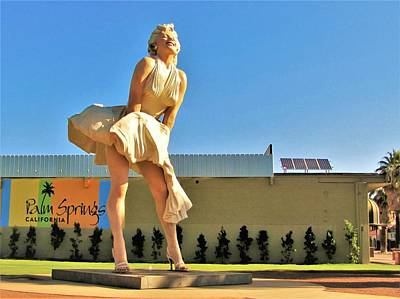 Photograph - Marilyn In Palm Springs by Lisa Dunn