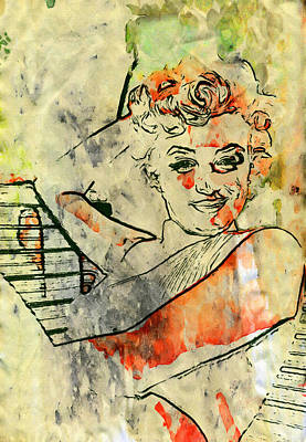1950 Movies Painting - Marilyn In Pop by John Farr