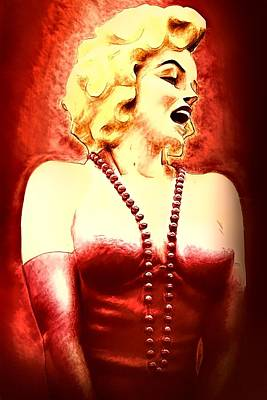 Photograph - Marilyn In Royal Red by Alice Gipson