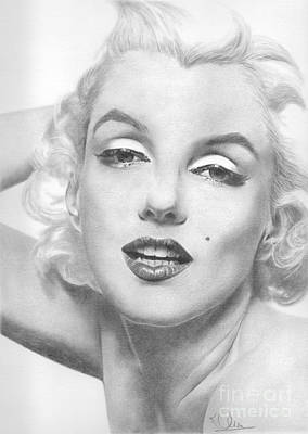Drawing - Marilyn by Karen Townsend