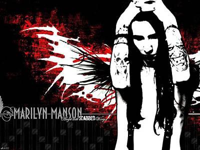 Marilyn Manson Art Print