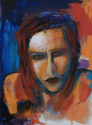 Painting - Marilyn Manson by Elise Palmigiani