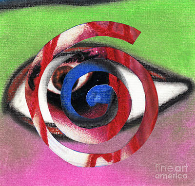 Marilyn Manson Eye Spiral Art Print by Christine Perry