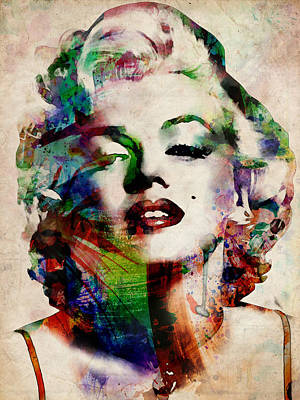 Stars Digital Art - Marilyn by Michael Tompsett