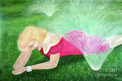 Painting - Marilyn Misted by Lyric Lucas
