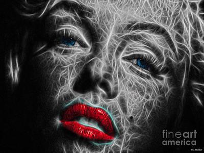 Mixed Media - Marilyn by ML Walker