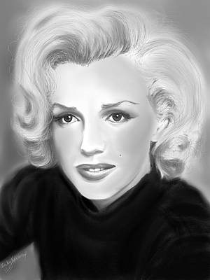 Drawing - Marilyn Monroe by Becky Herrera