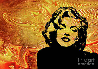 Abstract Digital Art - Marilyn Monroe. .  by Prar Kulasekara