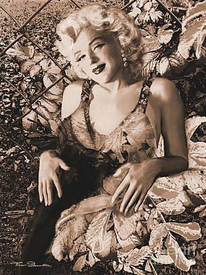 Marilyn Monroe 126 A 'sepia' Art Print