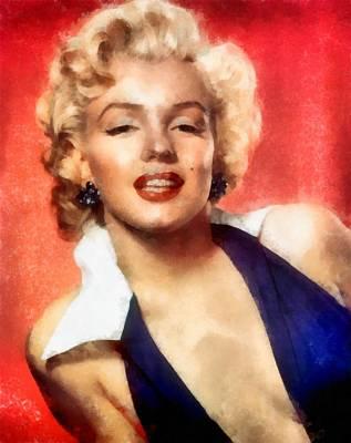 Digital Art - Marilyn Monroe 25 by Marilyn Monroe