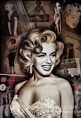 Painting -   Marilyn Monroe 4  by Andrzej Szczerski