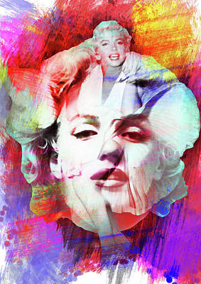 Marilyn Painting -  Marilyn Monroe 4 - By Diana Van  by Diana Van