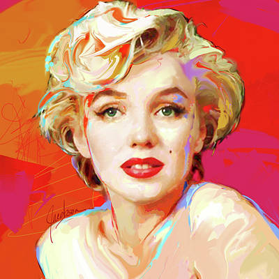 Marilyn Monroe Painting - Marilyn Monroe 4 Red by Jackie Jacobson