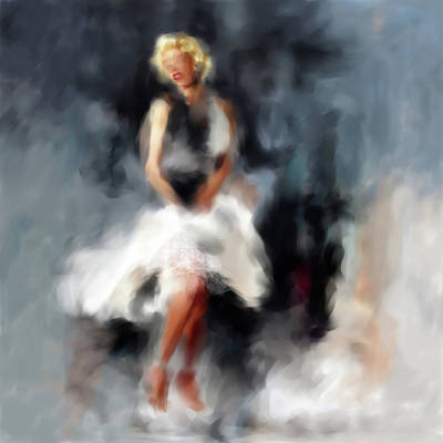 Golden Globe Painting - Marilyn Monroe 547 1 by Mawra Tahreem
