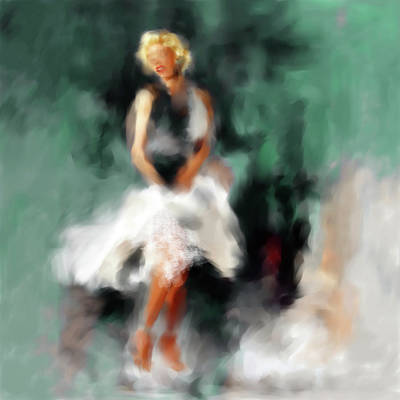 Globe Painting - Marilyn Monroe 547 2 by Mawra Tahreem
