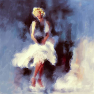 Golden Globe Painting - Marilyn Monroe 547 3 by Mawra Tahreem