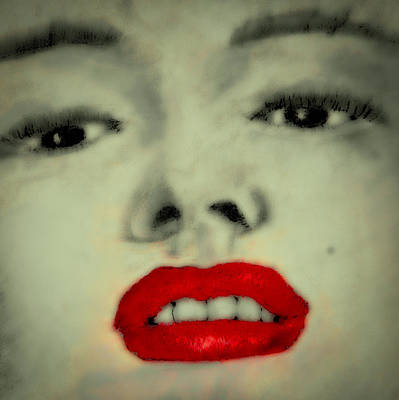 Soft Pastel Digital Art - Marilyn Monroe 7 by David Patterson