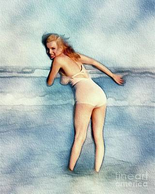Actors Royalty-Free and Rights-Managed Images - Marilyn Monroe, Actress and Model by Frank Falcon