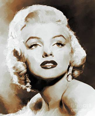 Actors Royalty-Free and Rights-Managed Images - Marilyn Monroe, Actress, Model, Legend by Mary Bassett