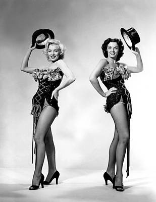Actor Photograph - Marilyn Monroe And Jane Russell by American School