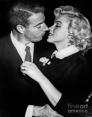1957 Movies Photograph - Marilyn Monroe And Joe Dimaggio  by Jon Neidert