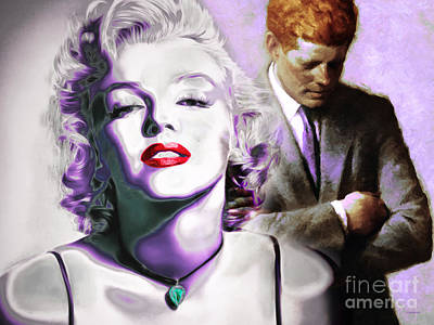 Sex Symbol Photograph - Marilyn Monroe And John F Kennedy 20160106 Horizontal by Wingsdomain Art and Photography